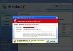 antivirus 7 rogue antispyware program popup warning message