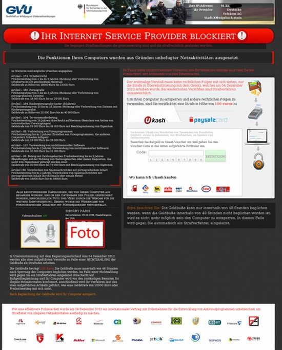 bka ransomware spreading child images