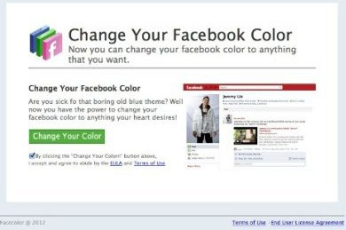change facebook color to black scam