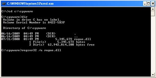 Unregister DLL File