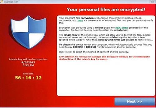 cryptolocker ransomware image