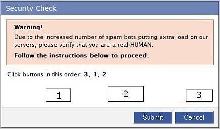 facebook clickjacking bogus security check figure 2
