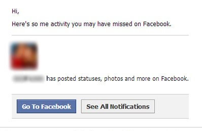 fake facebook activity you have missed message