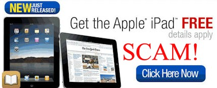 free apple ipad ad scam