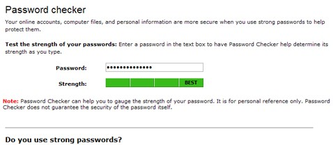 Microsoft Password Checker