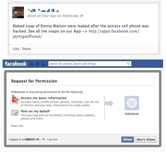 naked emma watson malicous facebook links