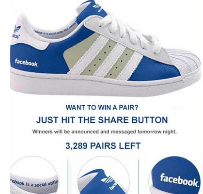 facebook hoax adidas branded shoes