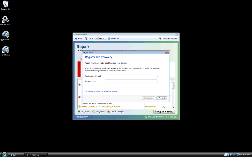File Recovery Removal Report