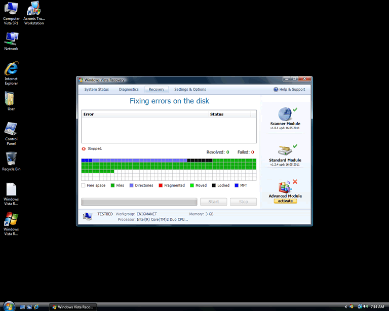 Windows Vista Recovery