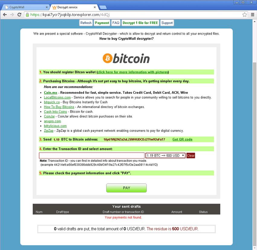 ransomware și bitcoin