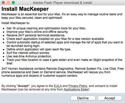 bogus mackeeper install from adware trojan