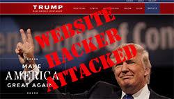 donald trump campaign site ddos attacked