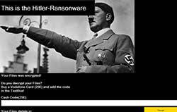 hitler ransomware deletes files not encrypt