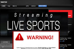 live streaming sports malicious popup ads