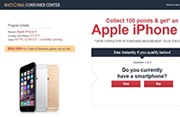 National Consumer Center Pop-Ups Screenshot