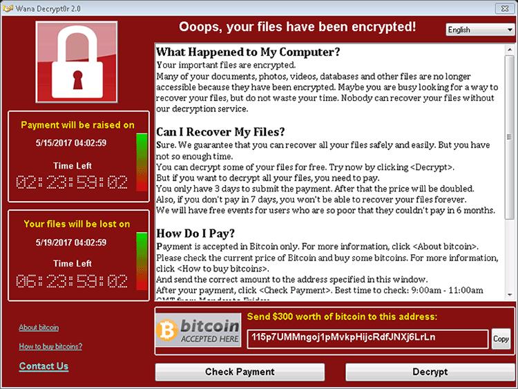 WannaCryptor or WanaCrypt0r Ransomware Removal Report
