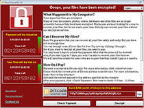 WannaCryptor or WanaCrypt0r Ransomware screenshot