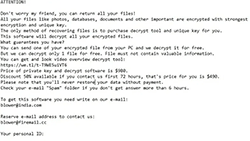 STOP Ransomware Screenshot