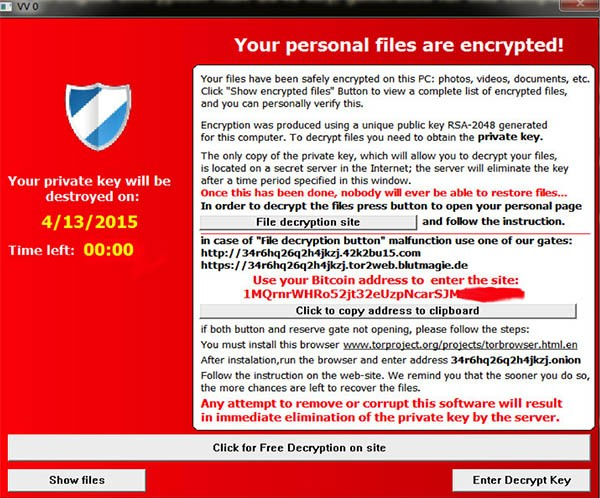 teslacrypt ransom note variation 2