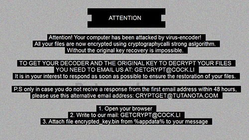 getcrypt desktop alert message