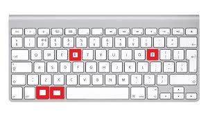 teclas del teclado