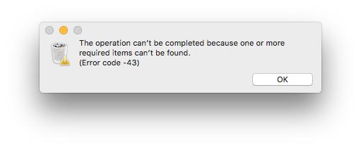 mac error code 43