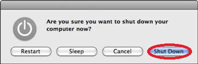 Macをシャットダウン