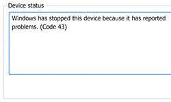 Windowsエラーコード43