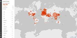 A Microsoft Divulga um Mapa Interativo Proprietário do COVID-19 screenshot