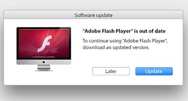 AdLoad Flash Player install prompt