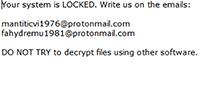 CONTI Ransomware Screenshot