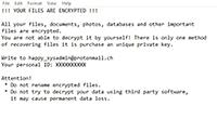 Cuba Ransomware Screenshot