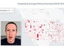 mapa de calor do facebook coronavirus