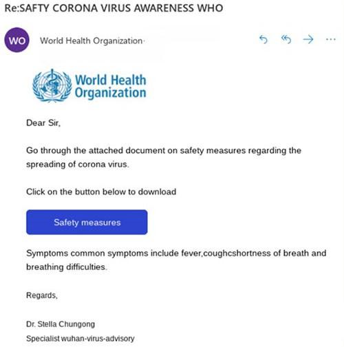 fake who coronavirus email