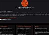 Maze Ransomware Screenshot
