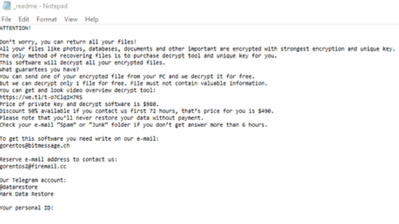 Rezm Ransomware screenshot