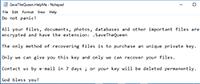 SaveTheQueen Ransomware Screenshot