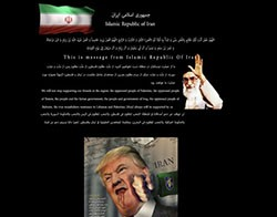 US Government Site Defaced Using Pro-Iranian Messages screenshot