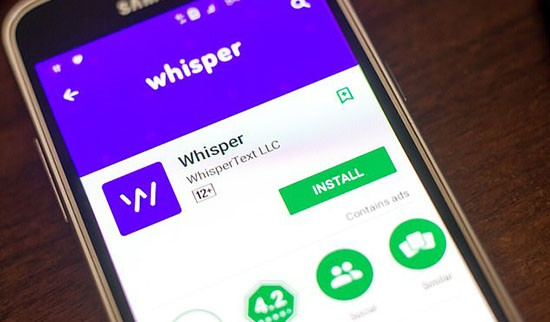 whisper app database leak