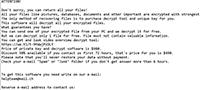 Urnb Ransomware Screenshot