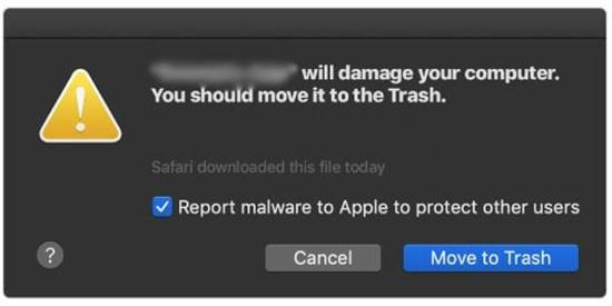 app will damage your computer mac alert
